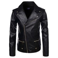 TheLees - Faux-Leather Biker Jacket