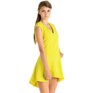 YesStyle Dress - V-Neck Flared Mini Dress