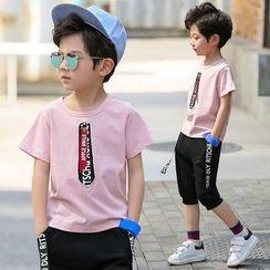 Famula - Kids Set: Printed T-Shirt + Shorts