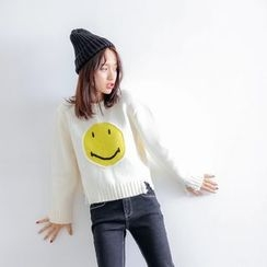 Porta - Smiley Knit Top
