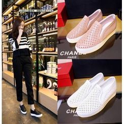 Shoes Galore - Perforated Slip-Ons