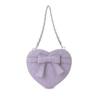 MBaoBao - Bow-Accent Quilted Heart Cross Bag