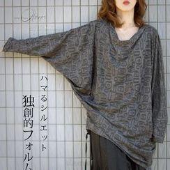 Nectarine - 蝙蝠袖图案裙衣