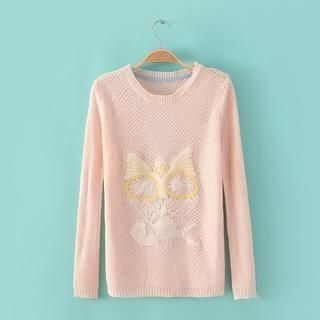 JVL - Appliqué-Owl Sweater
