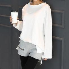 DANI LOVE - Round-Neck Cotton T-Shirt