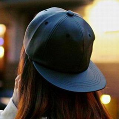 Hats 'n' Tales - Faux Leather Baseball Cap