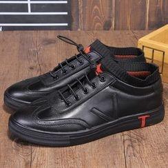 Armsal - 系带针织边休閒鞋