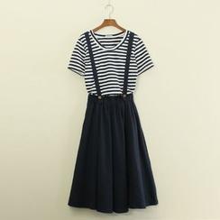 Mushi - Linen Jumper Skirt