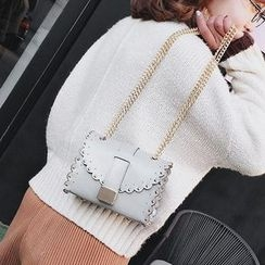 Pandabada - Studded Scalloped-Trim Cross Bag