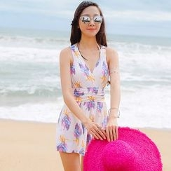 Beach Date - Floral Swimsuit