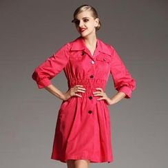 Le Teresa - Smocked Trench Coat