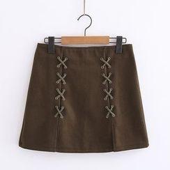 Piko - Woolen A-Line Skirt