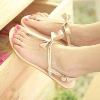 77Queen - Bow-Accent Sandals