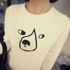 Melon Juice - Dog Print Long Sleeve T-Shirt