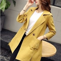 Romantica - Belted Double-Button Trench Coat