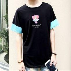 JVR - Printed Contrast-Trim T-Shirt