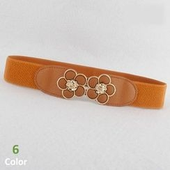 Goldenrod - Flower Buckle Elastic Belt