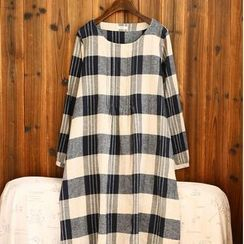tete - 格紋A字連衣裙
