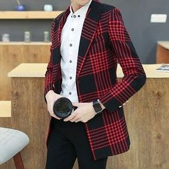 Keerme - Single Button Plaid Coat