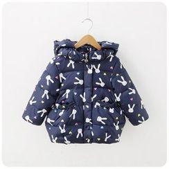 Rakkaus - Kids Hooded Padded Printed Zip Jacket