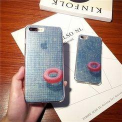 Rainbow Home - 游泳圈印花手機殼 - iPhone 6/ 6 Plus/ 7/ 7 Plus