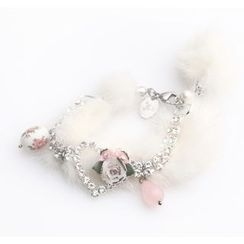 MIPENNA - White Snow Deer Crystal Bracelet