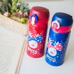 Wild Peach - Deer Print Thermal Tumbler