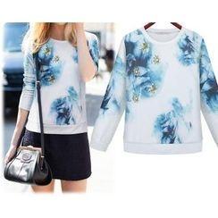 GRACI - 花形印花運動衫