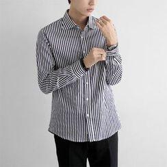Seoul Homme - Button-Down Stripe Shirt