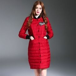Queen Mulock - Applique Snap-Button Down Coat