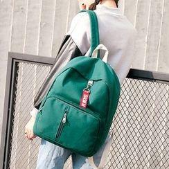 Youme - 纯色帆布背包