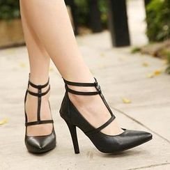 Mancienne - T-Strap Pumps