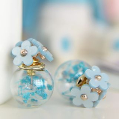 Ciroki - Double-Sided Flower Stud Earrings
