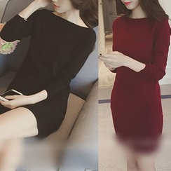 RUI - Boatneck Long Knit Top