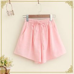 布衣天使 - 格子宽身短裤