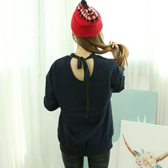 Dodostyle - Logo-Print Bow-Back Pullover