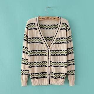 JVL - V-Neck Patterned Cardigan