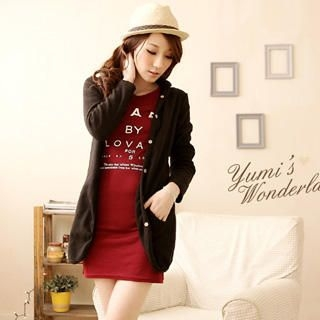 YUMI - Hooded Long Cardigan