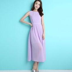 GETU - Sleeveless Midi Dress