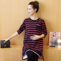 Ohayo - Maternity Striped Fleece Lined Tunic