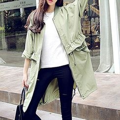 YOZI - Loose Fit Trench Jacket