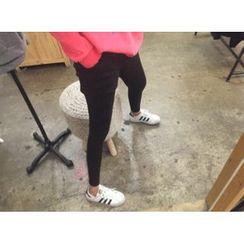 MARSHMALLOW - Inset Shorts Fleece-Lined Leggings
