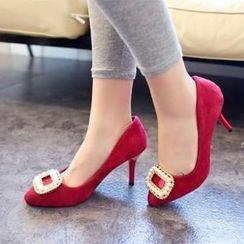 HOONA - 仿麂皮高跟鞋