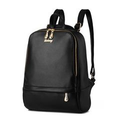 miim - Plain Faux Leather Backpack