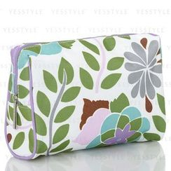 Clinique 倩碧 - Green Flower-Print Cosmetics Bag