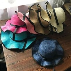 Hats 'n' Tales - Piped Straw Sun Hat