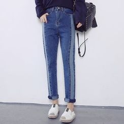 MePanda - High Waist Cropped Jeans