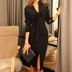 Isadora - 純色長袖連衣裙