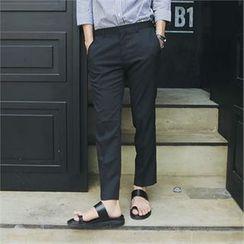MITOSHOP - Pocket-Side Tapered Dress Pants