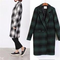 Ho Shop - Notched Lapel Check Coat